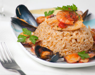 rižoto plodovi mora
