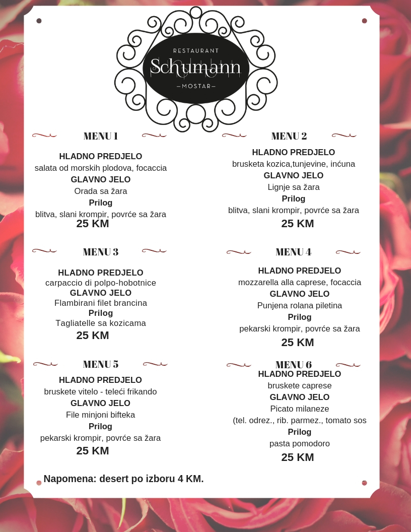 Red Hearts Valentines Day Menu (1)